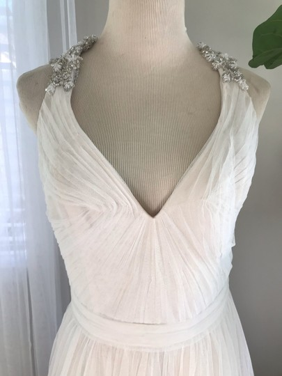 Bliss by Monique Lhuillier Tulle Beaded Formal Wedding Dress Size 10 (M) Image 6