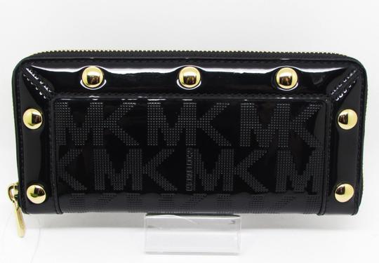 Michael Kors Mk Logo Delancy Mk And Wallet Mk Delancy Wallet Tote in Black Monogram Mirror Metallic /Gold Hardware Image 9