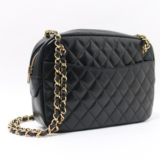 Chanel Vintage Lambskin Tote in Black Image 1
