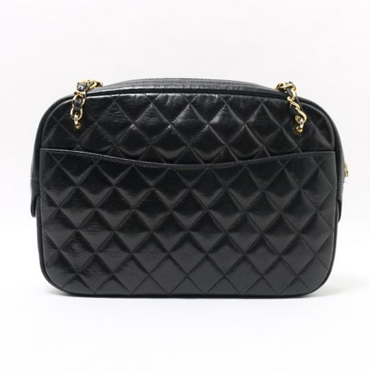 Chanel Vintage Lambskin Tote in Black Image 2