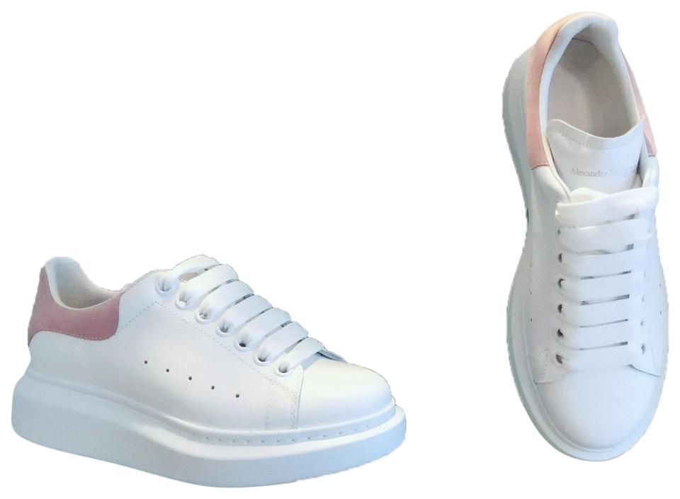 f1a9d2be6b8 Alexander McQueen White/Pachouli Leather Lace-up Platform Sneakers ...
