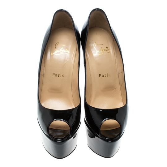 Christian Louboutin Patent Leather Leather Black Pumps Image 1