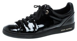 Louis Vuitton Patent Leather Leather Black Flats