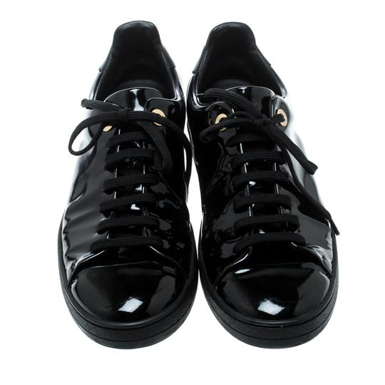 Louis Vuitton Patent Leather Leather Black Flats Image 1