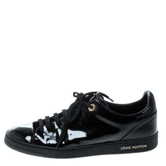 Louis Vuitton Patent Leather Leather Black Flats Image 3