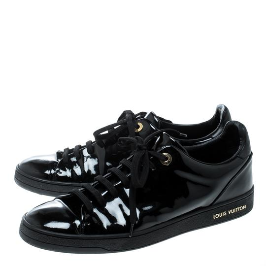Louis Vuitton Patent Leather Leather Black Flats Image 4