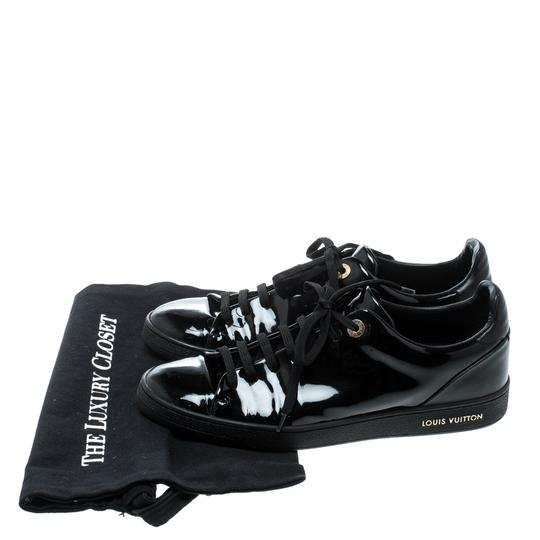 Louis Vuitton Patent Leather Leather Black Flats Image 7