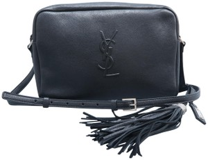 1c8bf1d391dc Saint Laurent Ysl Monogram Lou Camera Calfskin Cross Body Bag