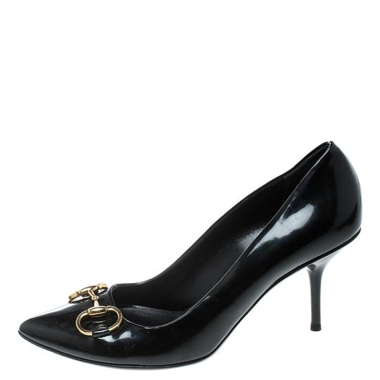 Gucci Patent Leather Leather Black Pumps Image 3