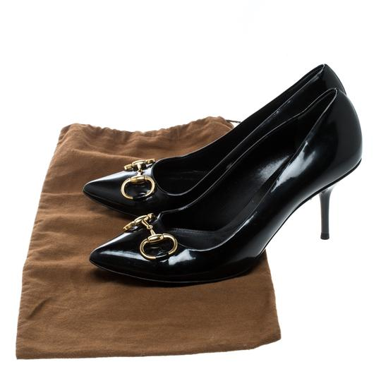 Gucci Patent Leather Leather Black Pumps Image 7