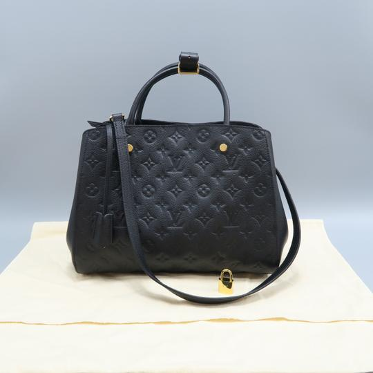 Louis Vuitton Lv Montaigne Empreinte Calfskin Satchel in black Image 1