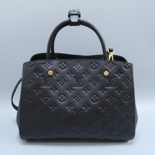 Louis Vuitton Lv Montaigne Empreinte Calfskin Satchel in black Image 2