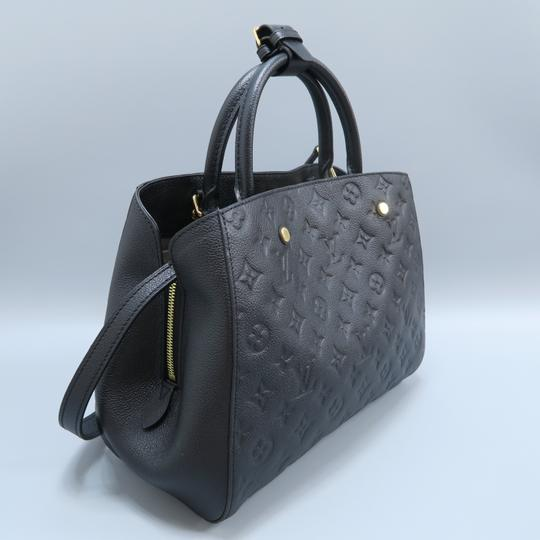 Louis Vuitton Lv Montaigne Empreinte Calfskin Satchel in black Image 4