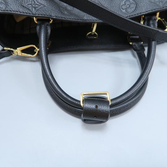 Louis Vuitton Lv Montaigne Empreinte Calfskin Satchel in black Image 6