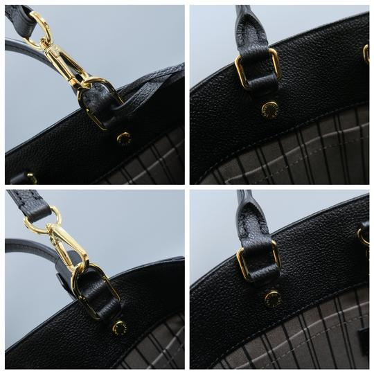 Louis Vuitton Lv Montaigne Empreinte Calfskin Satchel in black Image 7