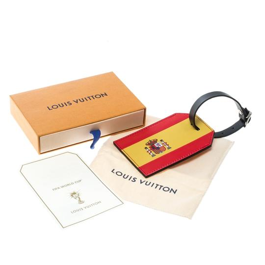 Louis Vuitton Red Epi Leather 2018 Fifa World Cup Spain Flag Luggage Tag Image 4