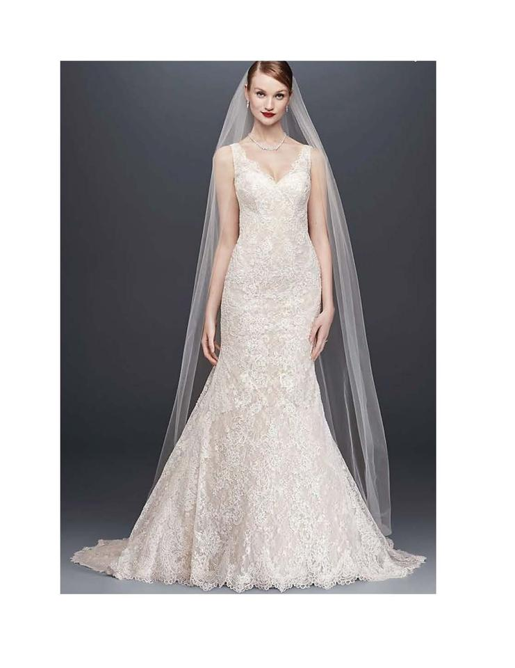 15bf1e56ec Oleg Cassini Champagne Ivory Lace David s Bridal Style   Cwg747 Formal  Wedding Dress