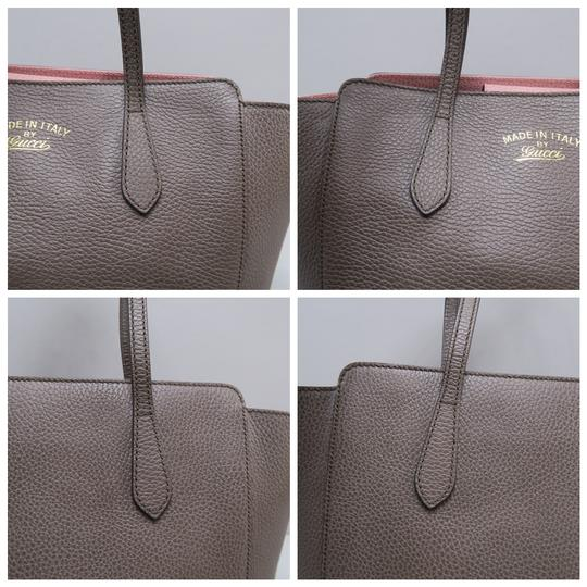 Gucci Calfskin Swing Small Tote in Taupe Image 7