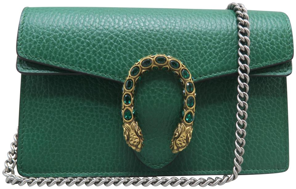 0922b57ee143 Gucci Dionysus Gg Supreme Mini Leather Green Calfskin Cross Body Bag ...