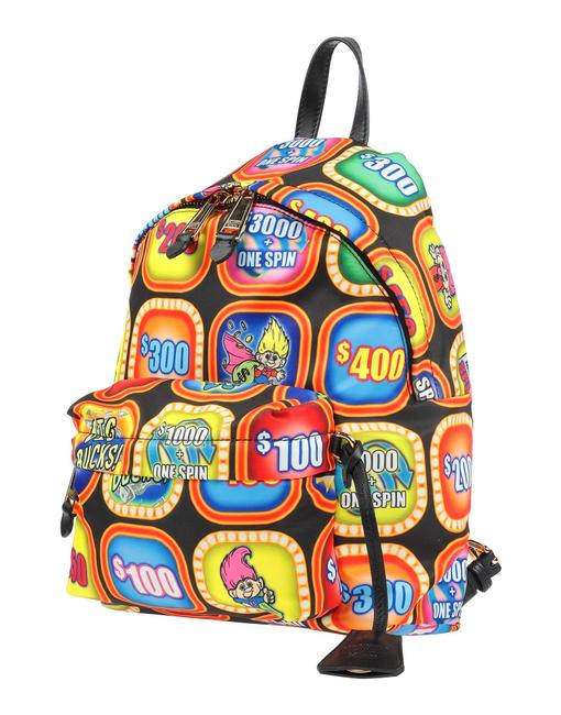 Item - Medium Fantasy Print Multicolor Textile Fibers Leather Backpack