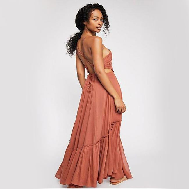 Brown Maxi Dress by Free People Image 1