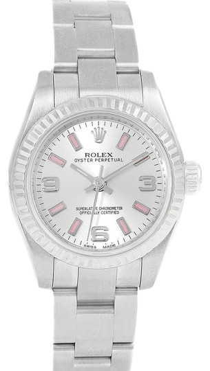 Preload https://img-static.tradesy.com/item/25101729/rolex-silver-nondate-steel-white-gold-pink-hour-markers-ladies-176234-watch-0-1-540-540.jpg