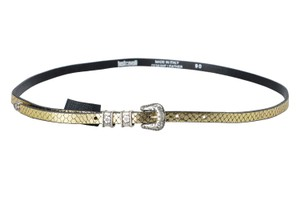 Just Cavalli Just Cavalli 100% Leather Gold Women's Belt US 25 IT 90