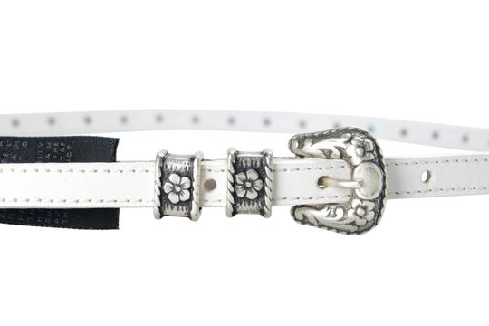 Just Cavalli Just Cavalli 100% Leather White Embellished Women's Belt US 25 IT 90 Image 2