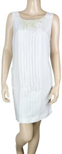 BCBGeneration Pleated Open Back Pearl Dress