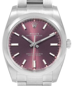 Rolex Rolex Oyster Perpetual Red Grape Dial Steel unisex Watch 114200 Unworn