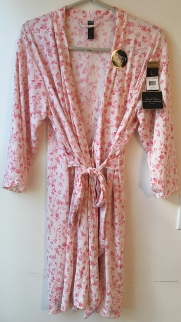 Marilyn Monroe Marilyn Monroe Woman's Pink Floral Chemise and Robe Set.Size L. New wi Image 2