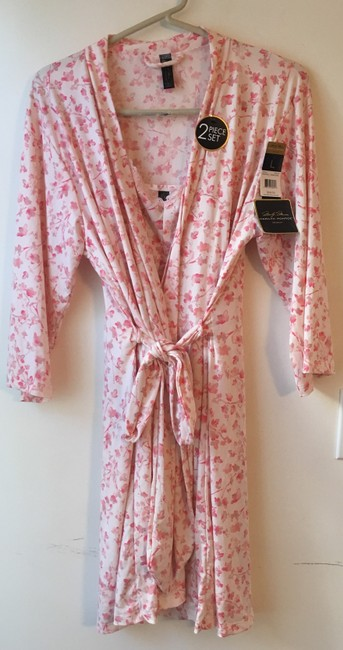 Marilyn Monroe Marilyn Monroe Woman's Pink Floral Chemise and Robe Set.Size L. New wi Image 6