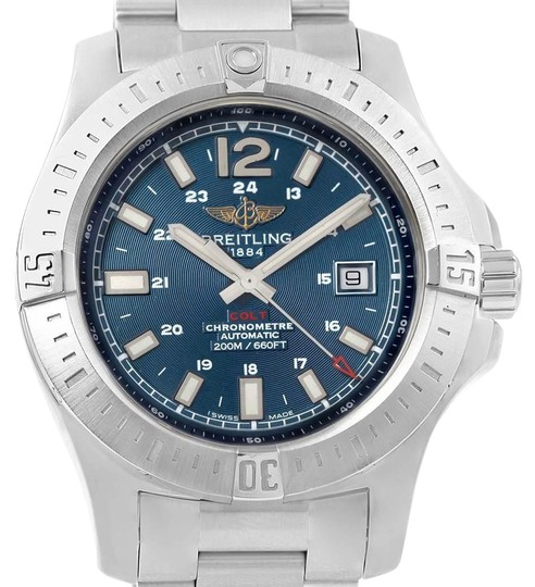 Preload https://img-static.tradesy.com/item/25101830/breitling-blue-colt-baton-dial-steel-mens-a17388-watch-0-1-540-540.jpg