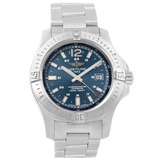 Breitling Breitling Colt Blue Baton Dial Automatic Steel Mens Watch A17388 Image 1