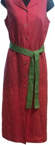 pink and green Maxi Dress by Talbots
