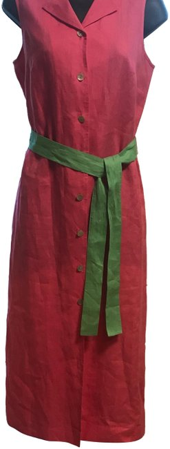 Item - Pink and Green Tunic Mid-length Casual Maxi Dress Size 6 (S)