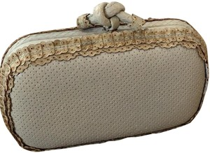 Bottega Veneta gray/light blue Clutch