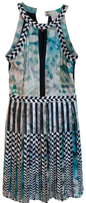 Preload https://img-static.tradesy.com/item/25102748/parker-black-white-and-green-silk-high-neck-with-keyhole-in-front-and-embroidered-detail-short-casua-0-1-650-650.jpg
