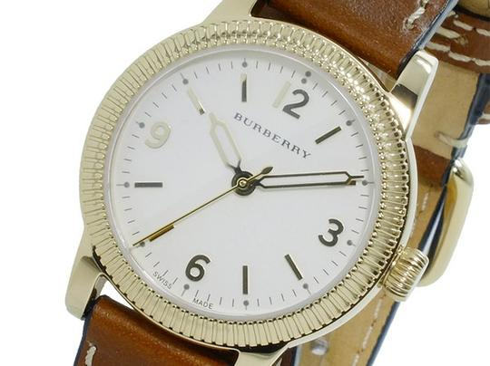 Burberry The Utilitarian Leather Gold Stainless Steel Wrap Bu7850 Watch Image 1