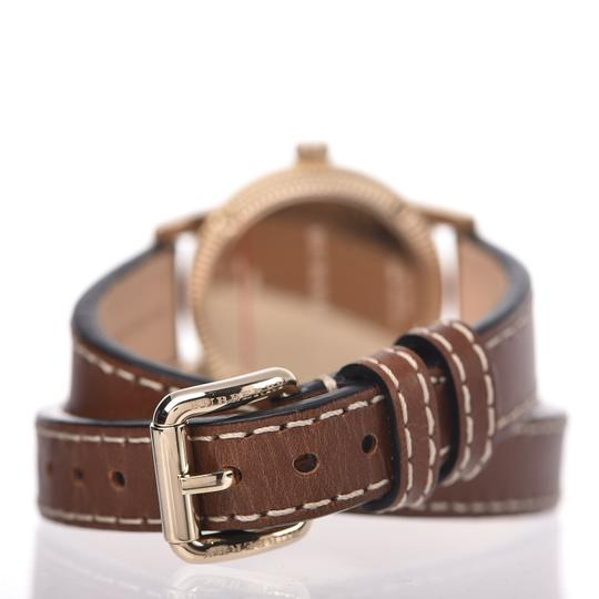 Burberry The Utilitarian Leather Gold Stainless Steel Wrap Bu7850 Watch Image 5