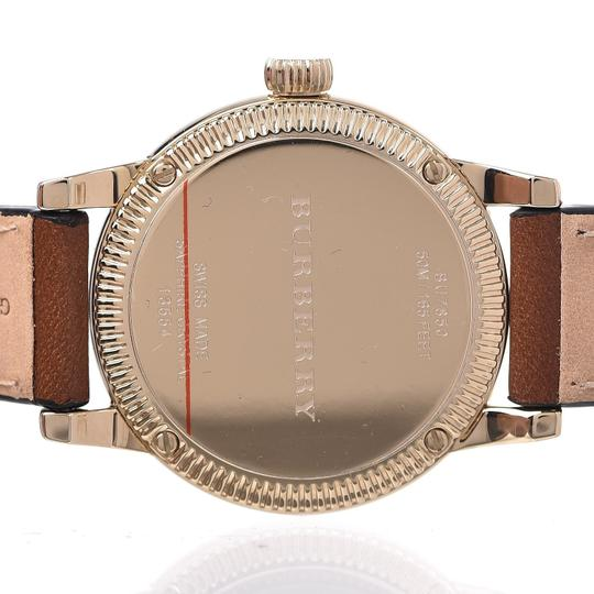 Burberry The Utilitarian Leather Gold Stainless Steel Wrap Bu7850 Watch Image 7