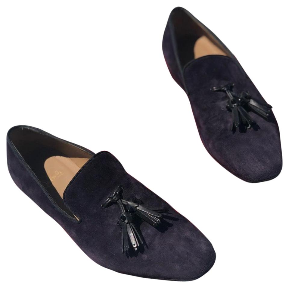 0e93a45bc4d Christian Louboutin Purple Dada Tassel Suede Loafer Flats Size EU 42  (Approx. US 12) Regular (M, B) 61% off retail