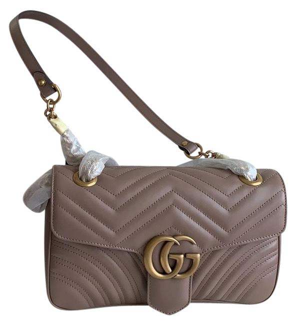 Item - Marmont Small Mauve Leather Cross Body Bag