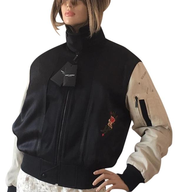 Item - Black Cream Army Embroidered Jacket Size 10 (M)