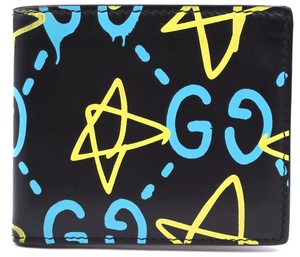 Gucci RARE Ghost GG Logo leather bifold Wallet aka Trevor Andrew line