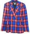 Escada red plaid Blazer