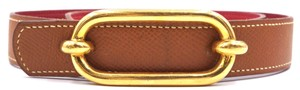 Hermès 24Mm RARE gold buckle Belt Size 65 Reversible leather Belt