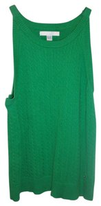 Tommy Hilfiger Sleeveless Cable Knit Top Green