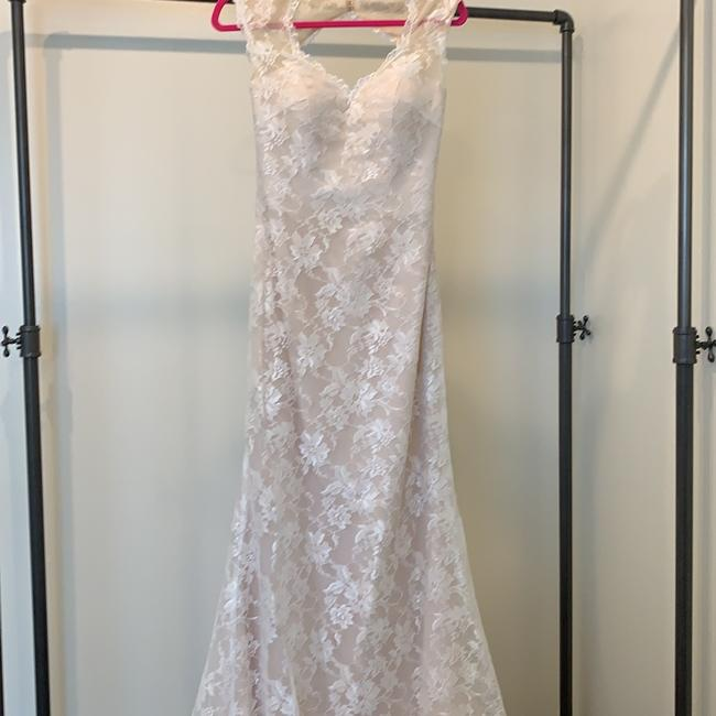 Item - Ivory Over Blush Lace 20232 Traditional Wedding Dress Size 6 (S)