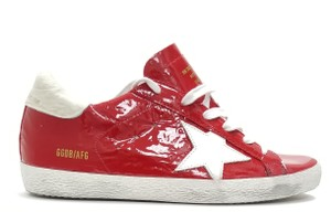 Golden Goose Deluxe Brand G33ws590.l88 Red Ostrich-White Star Athletic